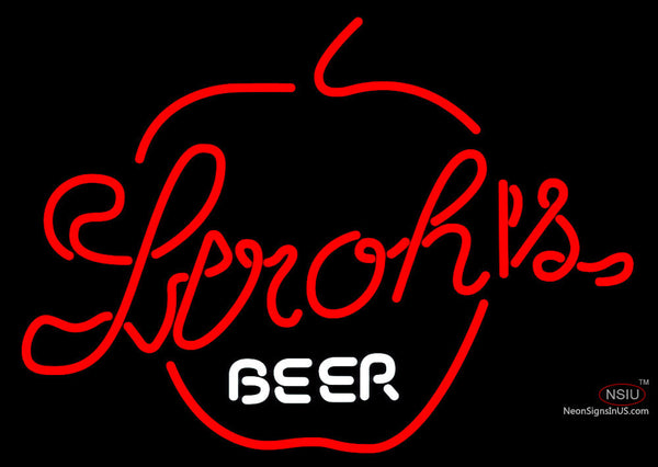 Strohs Apple Neon Beer Sign
