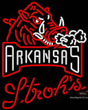 Strohs Arkansas Razorbacks UNIVERSITY Neon Sign