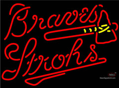 Strohs Atlanta Braves MLB Beer Neon Sign
