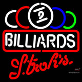 Strohs Ball Billiards Text Pool Neon Sign   x