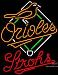 Strohs Baltimore Orioles MLB Beer Neon Sign