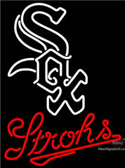 Strohs Beer Neon Sign Chicago White Sox