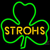 Strohs Green Clover Neon Beer Sign x