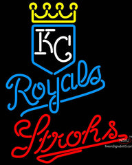 Strohs Kansas City Royals MLB Beer Neon Signs