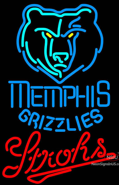 Strohs Memphis Grizzlies NBA Beer Neon Sign