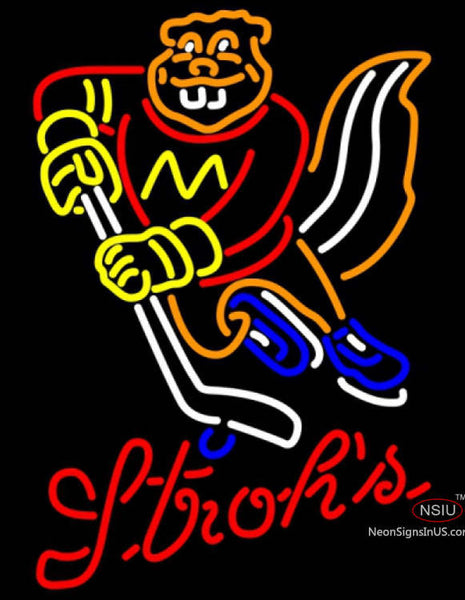 Strohs Minnesota Golden Gophers Hockey Neon Sign