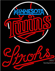 Strohs Minnesota Twins MLB Beer Neon Sign