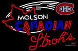 Strohs Molson Montreal Canadians Hockey Neon Sign
