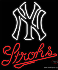 Strohs New York Ny MLB Beer Real Neon Glass Tube Neon Sign