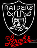 Strohs Oakland Raiders NFL Beer Neon Sign