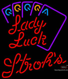 Strohs Poker Lady Luck Series Neon Sign 7