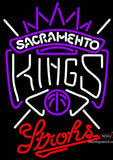 Strohs Sacramento Kings NBA Beer Neon Sign