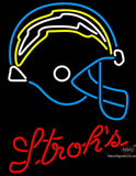 Strohs San Diego Chargers NFL Beer Neon Sign