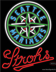 Strohs Seattle Mariners MLB Beer Real Neon Glass Tube Neon Sign