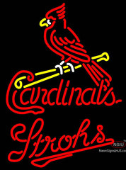 Strohs St Louis Cardinals MLB Beer Neon Sign