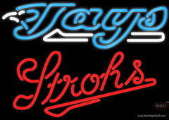 Strohs Toronto Blue Jays MLB Beer Real Neon Glass Tube Neon Sign