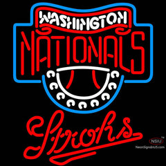Strohs Washington Nationals MLB Beer Neon Sign