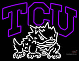 Tcu Horned Frogs Primary  Pres Logo NCAA Neon Sign