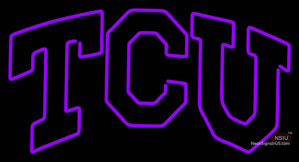 Tcu Horned Frogs Wordmark  Pres Logo NCAA Neon Sign