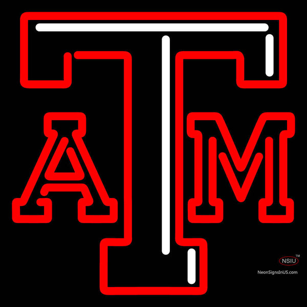 Texas A And M Aggies Primary   Logo NCAA Neon Sign x