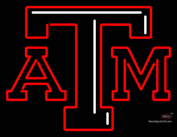 Texas A And M Aggies Primary 7 Pres Logo NCAA Neon Sign