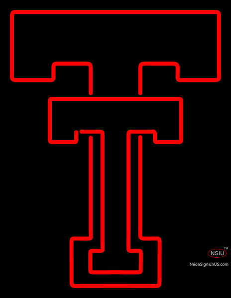 Texas Tech Red Raiders Primary   Logo NCAA Neon Sign