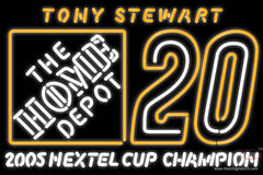 Tony Stewart # Real Neon Glass Tube Neon Sign Nascar