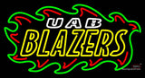 Uab Blazers Wordmark  Pres Logo NCAA Neon Sign