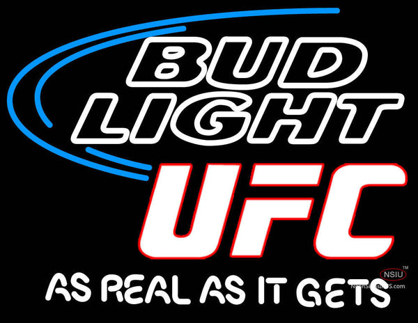 Bud Light Ultimate Fighting Championship Ufc Logo Neon Beer Sign-