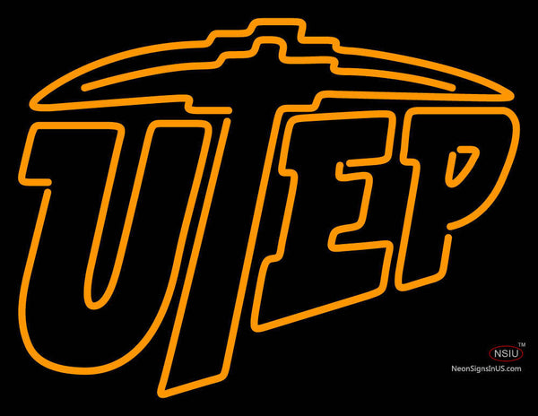 Utep Miners Alternate  Pres Logo Ncaa Neon Sign