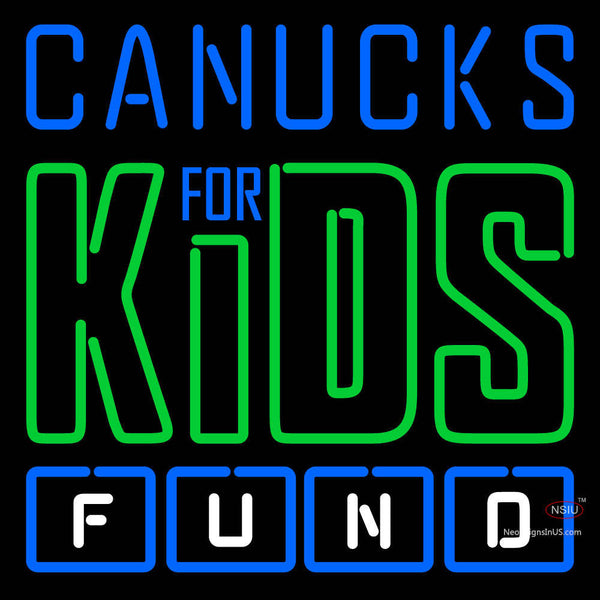 Vancouver Canucks Charity 7  Pres Logo  NHL Neon Sign