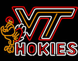 Virginia Tech Vt Hokies Logo Neon Sign