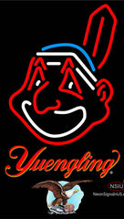 Yuengling Cleveland Indians MLB Neon Sign