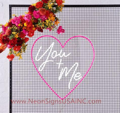 You And Me Wedding Home Deco Neon Sign