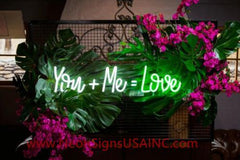 You Me Love Wedding Home Deco Neon Sign