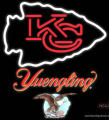 Yuengling Kansas City Chiefs NFL Real Neon Glass Tube Neon Sign   x