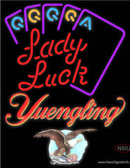 Yuengling Lady Luck Series Real Neon Glass Tube Neon Sign