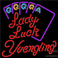 Yuengling Lady Luck Series Real Neon Glass Tube Neon Sign x