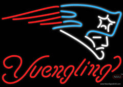 Yuengling New England Patriots NFL Beer Real Neon Glass Tube Neon Sign