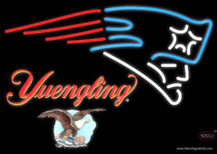 Yuengling New England Patriots NFL Real Neon Glass Tube Neon Sign
