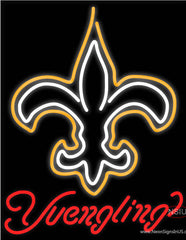 Yuengling New Orleans Saints NFL Beer Real Neon Glass Tube Neon Sign