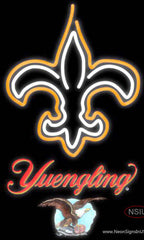 Yuengling New Orleans Saints NFL Real Neon Glass Tube Neon Sign