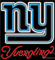 Yuengling New York Giants NFL Beer Real Neon Glass Tube Neon Sign