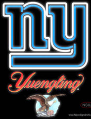 Yuengling New York Giants NFL Real Neon Glass Tube Neon Sign