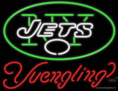 Yuengling New York Jets NFL Beer Real Neon Glass Tube Neon Sign
