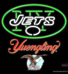 Yuengling New York Jets NFL Real Neon Glass Tube Neon Sign