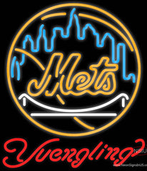 Yuengling New York Mets MLB Beer Real Neon Glass Tube Neon Sign