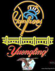 Yuengling New York Yankees Real Neon Glass Tube Neon Sign