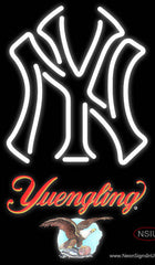 Yuengling New York Yankees White MLB Real Neon Glass Tube Neon Sign