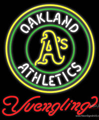 Yuengling Oakland Athletics MLB Beer Real Neon Glass Tube Neon Sign